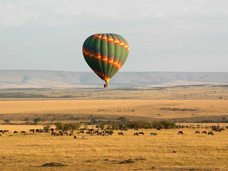 Luftballong över savannerna i Sydafrika