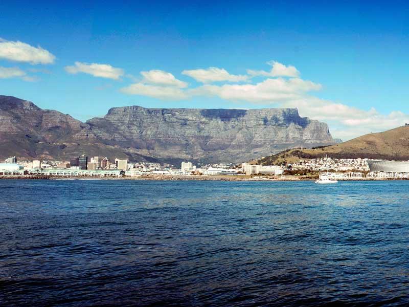 Bergsplatå i Kapstaden